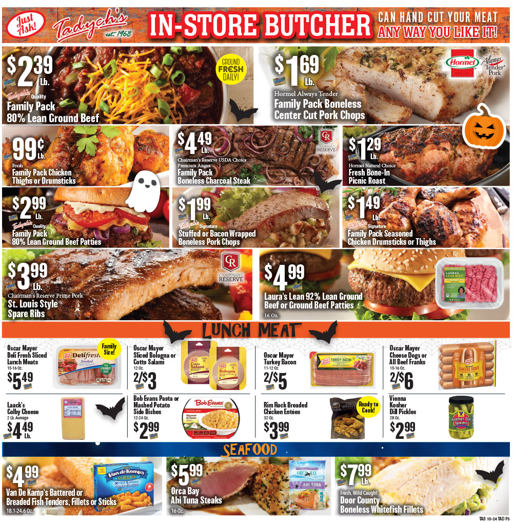 Tadych's specials for week of 10-24-20