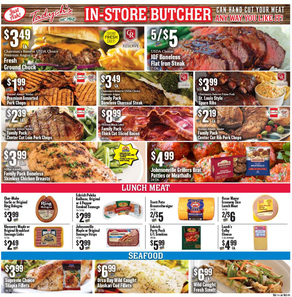 Tadych's specials for week of 11-28-20