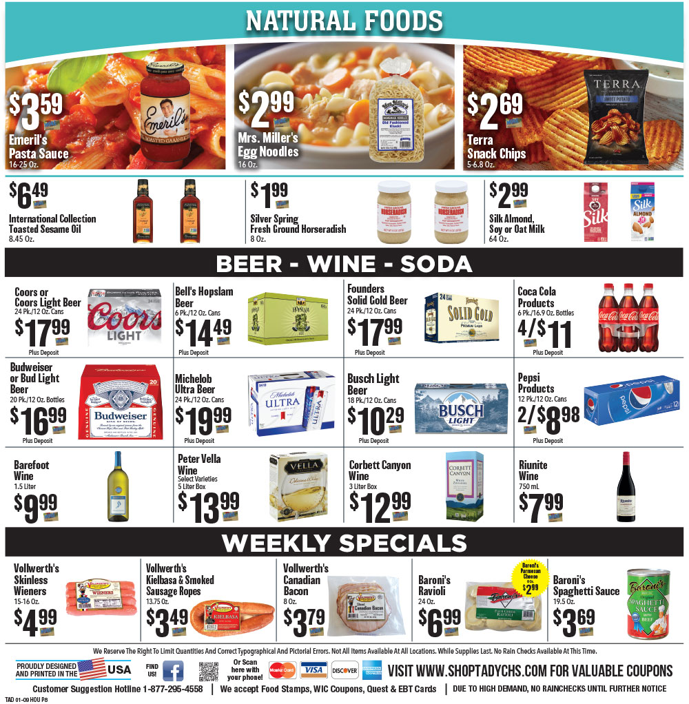 Tadych's Houghton specials for week of 1-13-21