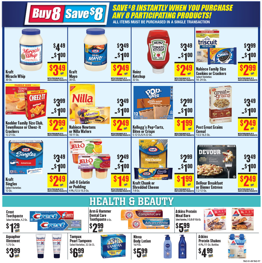 Tadych's specials for week of 1-13-21