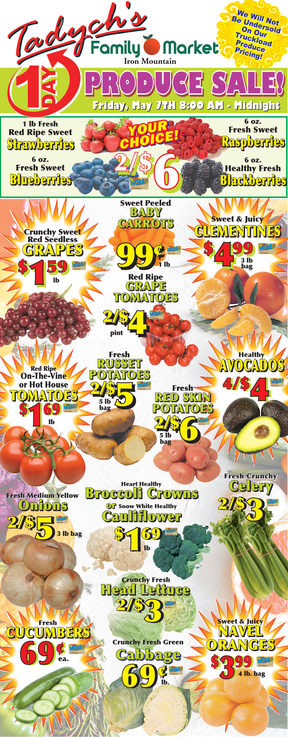 Iron Mountain Produce Sale