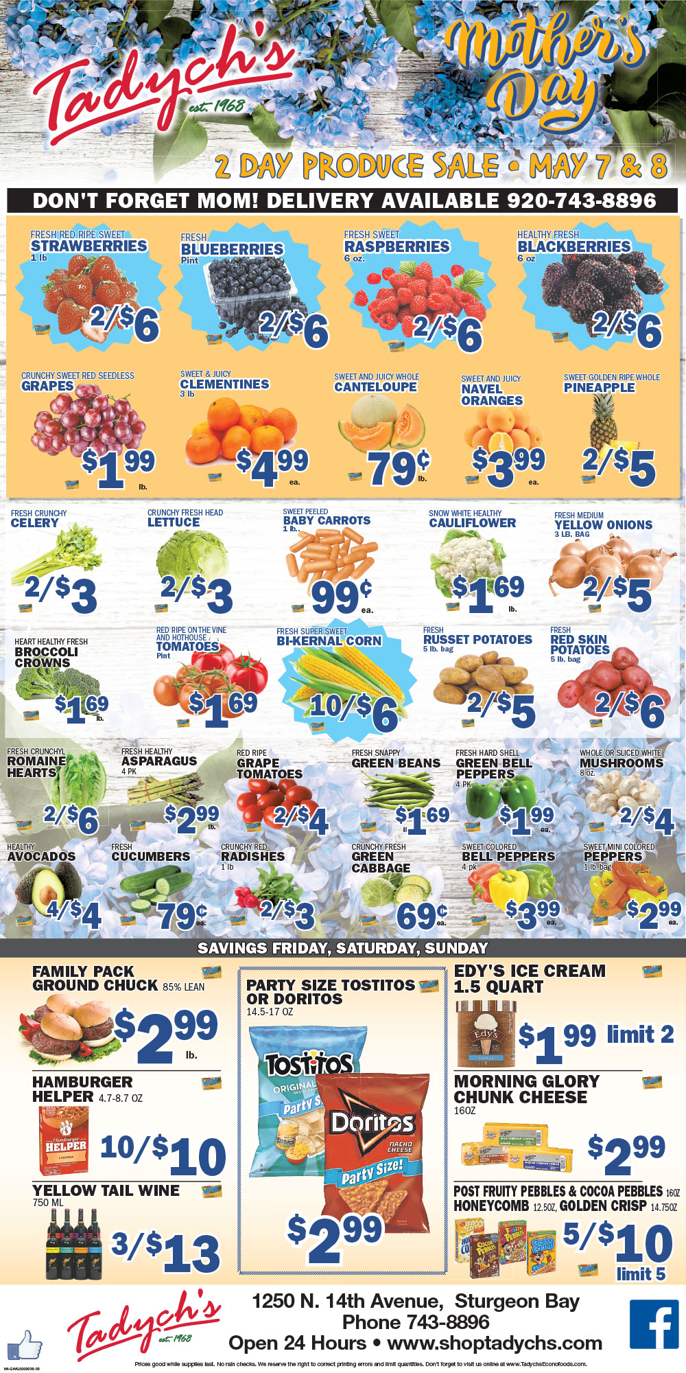 Sturgeon Bay produce sale
